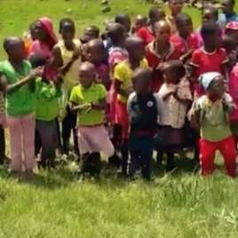Lesotho kids receive shoeboxes