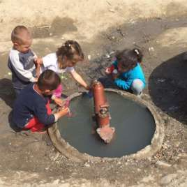 Children Dirty Water