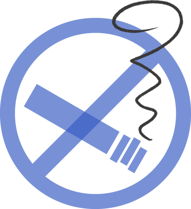 An illustration of a no-smoking sign.