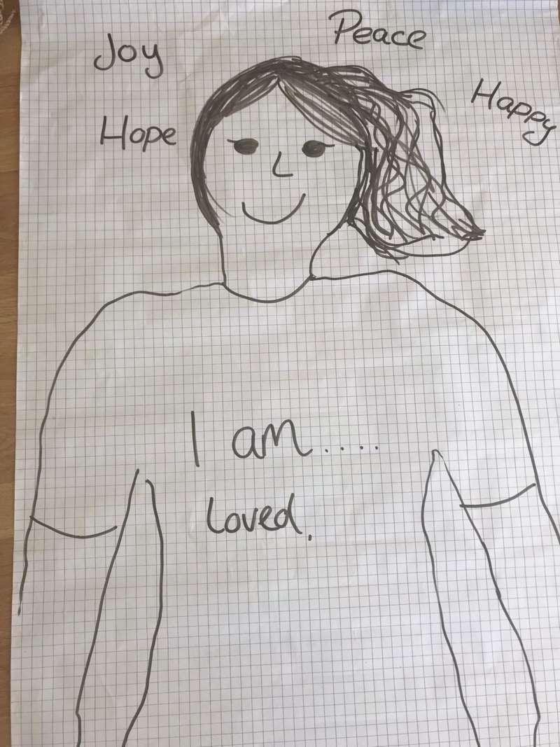 Draw amy kids prayer activity