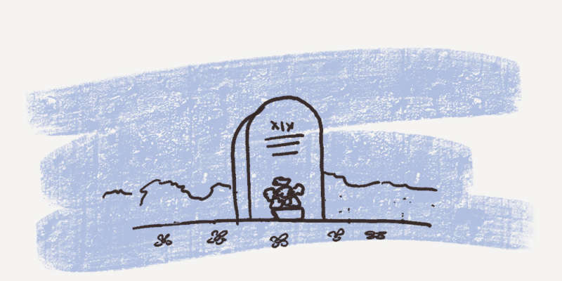 Graveyard illustration