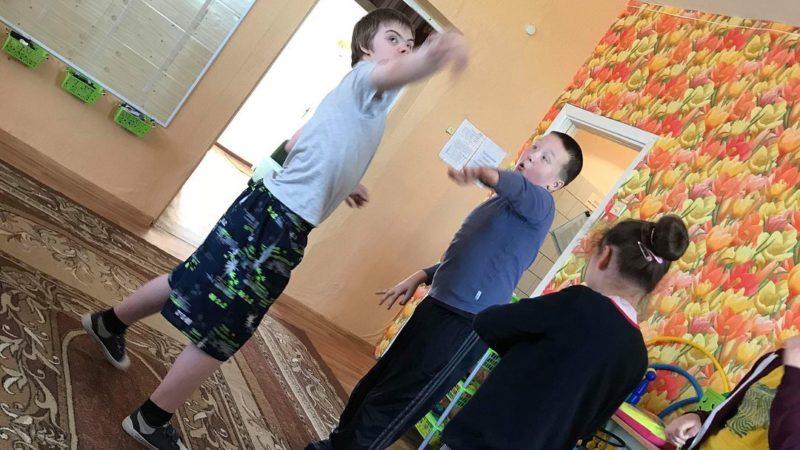 Boys Throwing