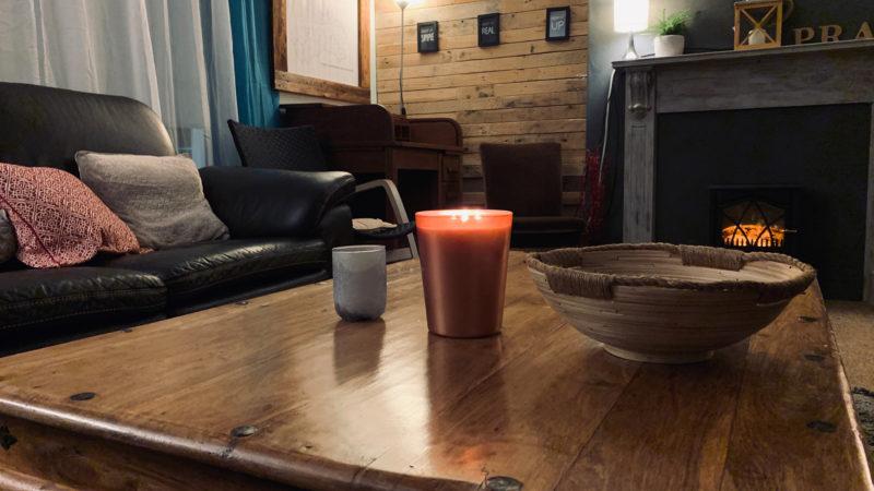Living room study desk corner