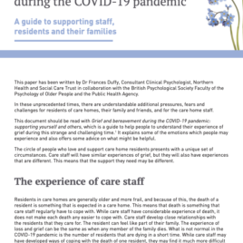 A guide to supporting care home staff, residents and their families
